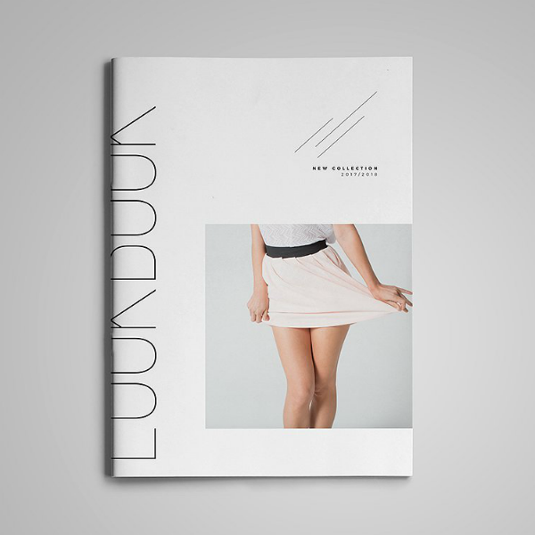 clean minimalist contemporary lookbook template