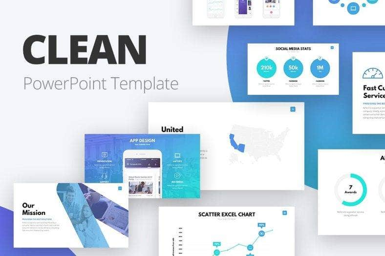 clean simple powerpoint template 788x524