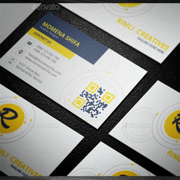Clean Yellow Business Card Design