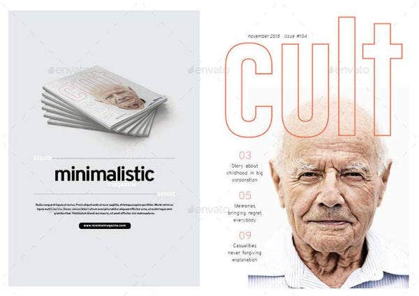 Clean and Minimal Magazine Design