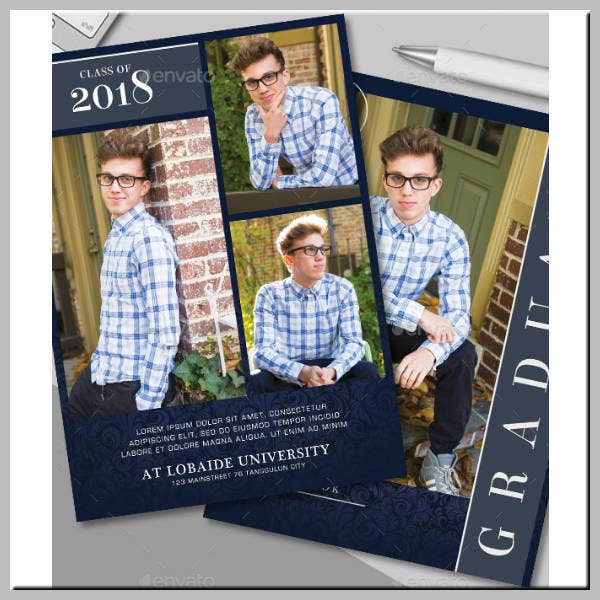 Collage Graduation Ceremony Invitation Template