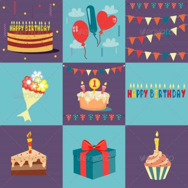 collage personalized birthday card template