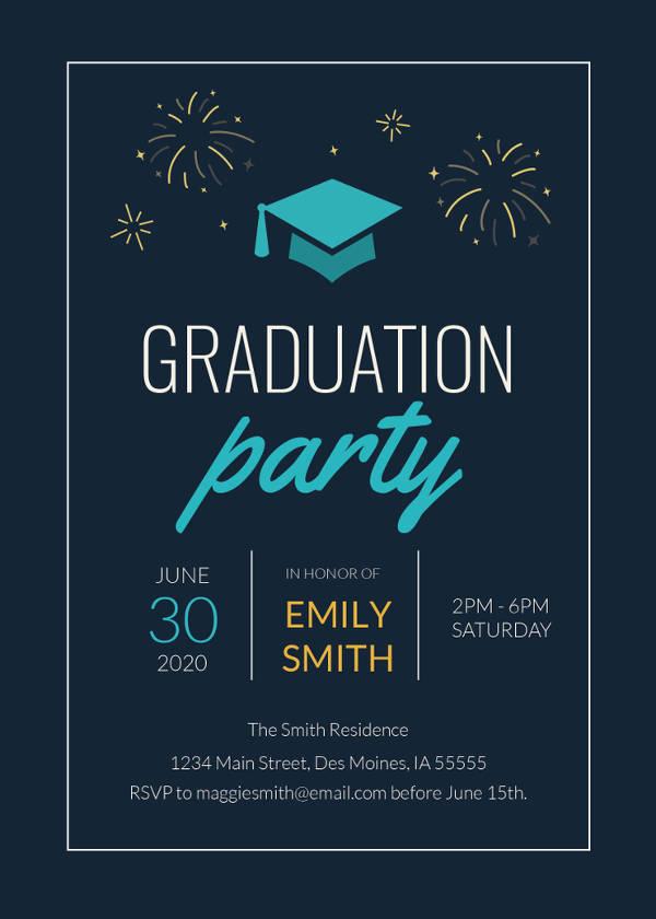 college graduation invitation template1