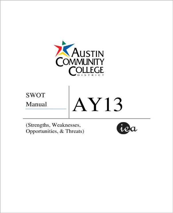 college swot analysis manual 01