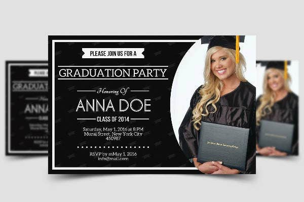 College graduation Party Invitation Design