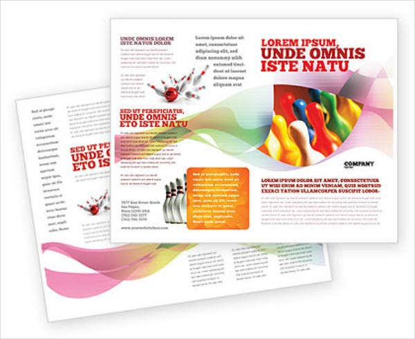 Colorful Bowling Brochure Template