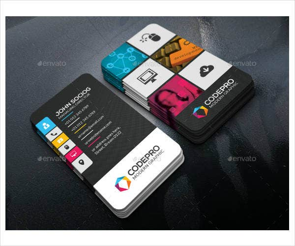 colorful corporate business card template