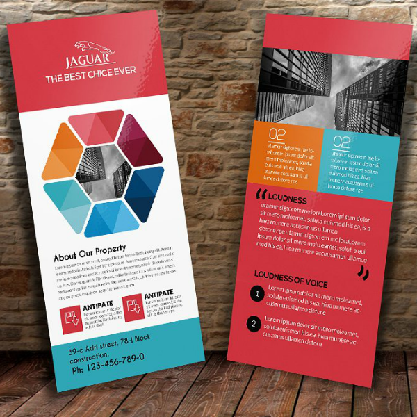 Colorful Modern Business Rack Card Template