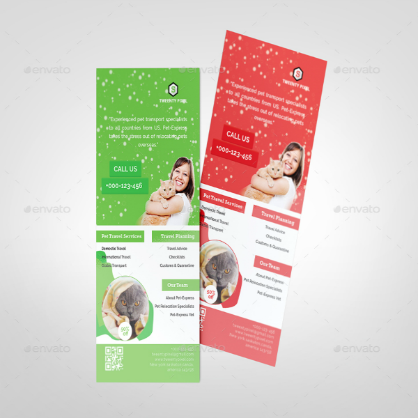 Colorful Pet Business Rack Card Template