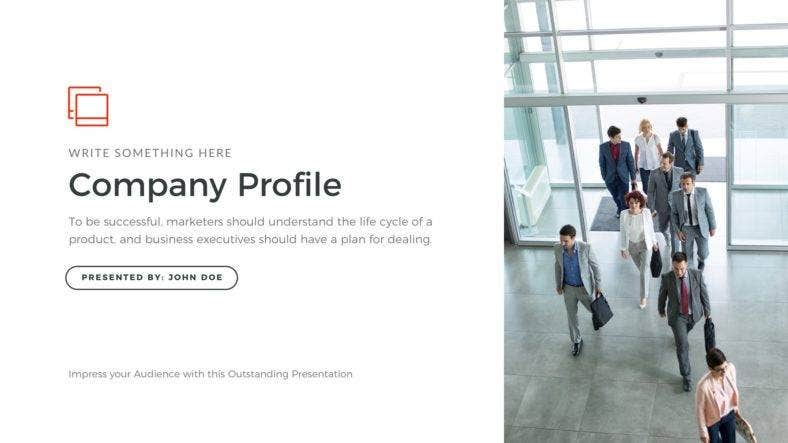 company profile simple powerpoint template 788x443