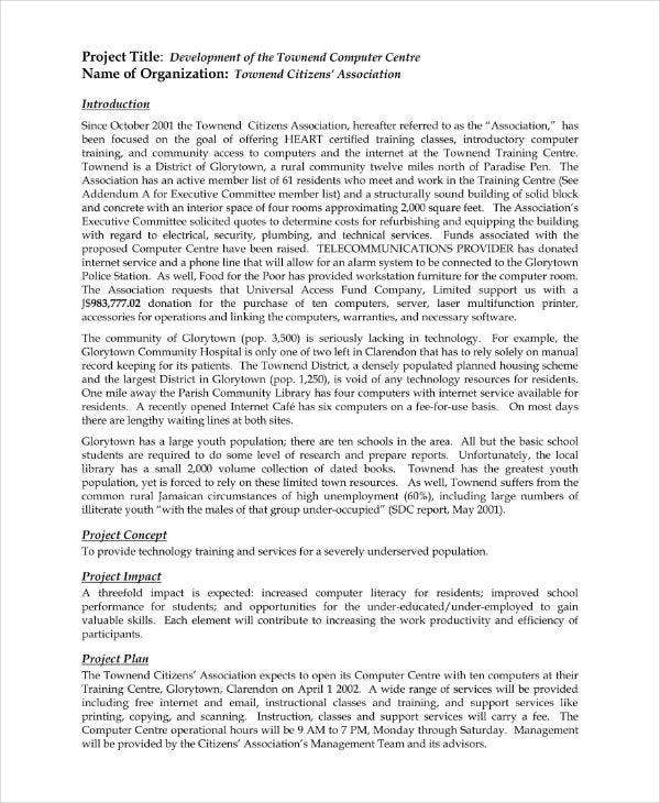 14 Information Technology Project Proposal Templates Pdf Doc