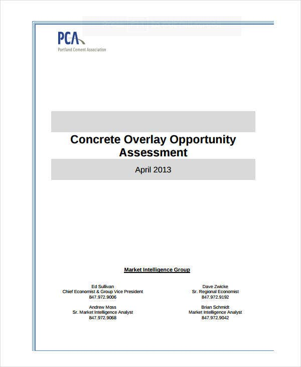 concrete overlay opportunity assessment