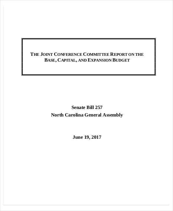 conference committee report