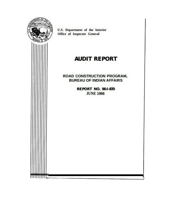 construction engineering audit report template