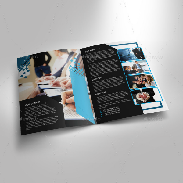 Consultancy Corporate Bifold Brochure Template