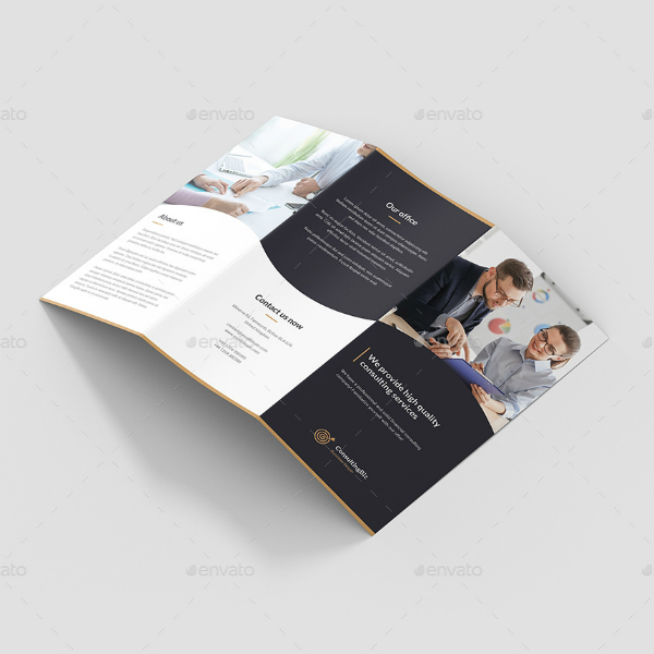 Consulting Biz Agency Trifold Brochure Template
