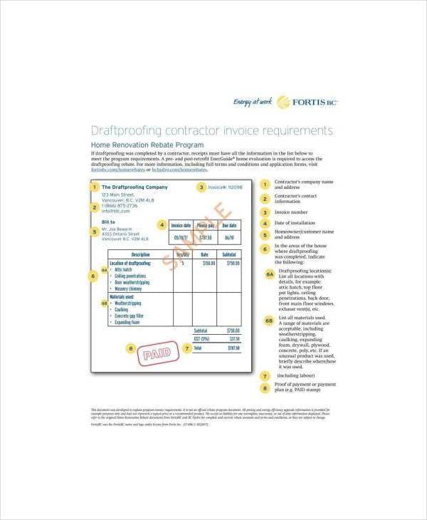 contractor invoice template2