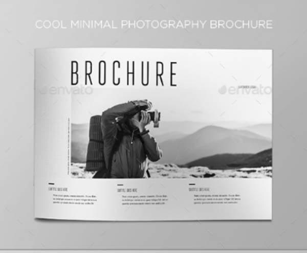 cool minimalist photography brochure example