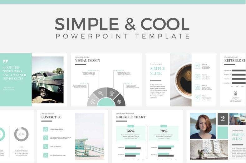 cool simple powerpoint template 788x525