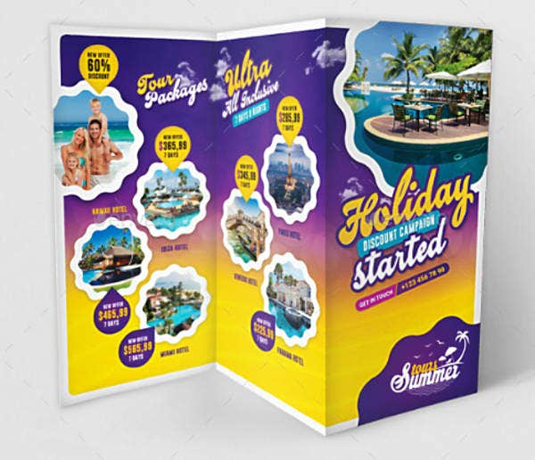 Cool Travel Trifold Brochure Template