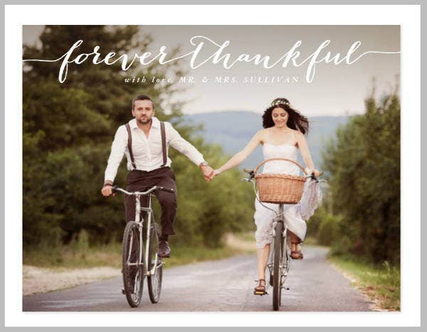 Couple Wedding Thank You Card