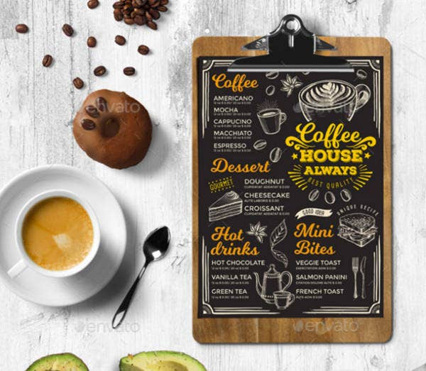 Creative Coffee Shop Menu Template