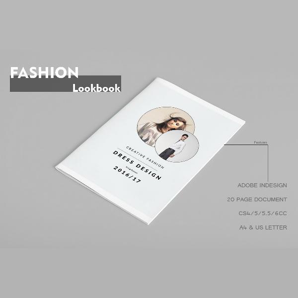Creative Design Fashion Lookbook Template