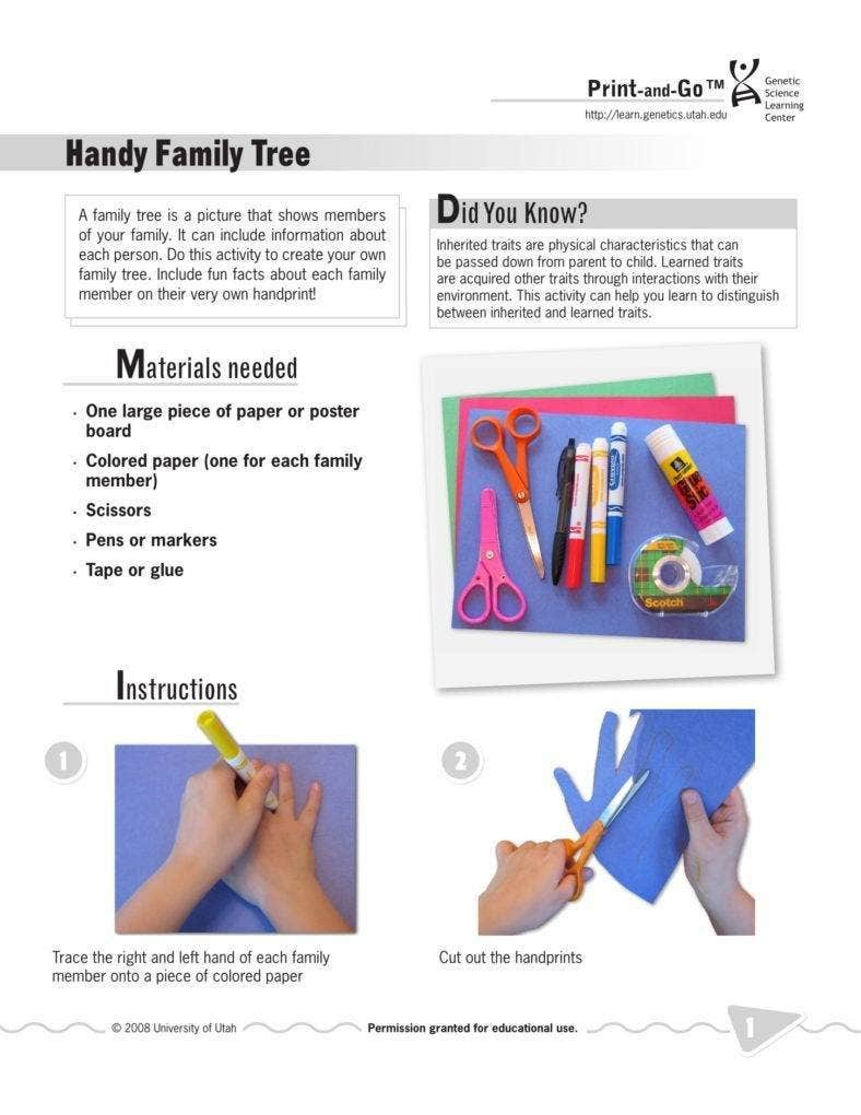 Creative Family Tree Example