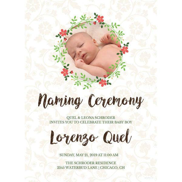 37 Naming Ceremony Invitations Psd Ai Free Premium