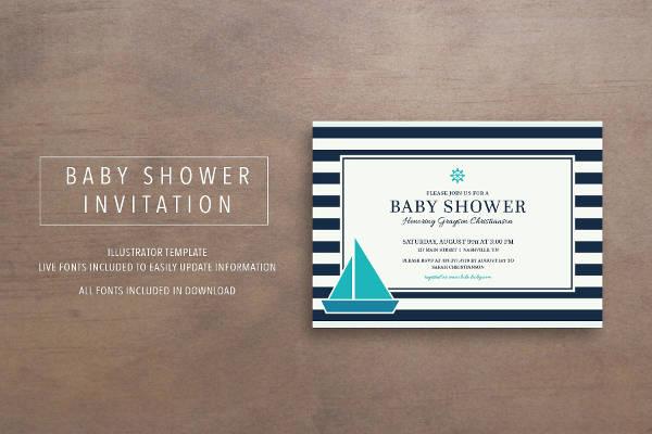 Creative Nautical Baby Shower Invitation