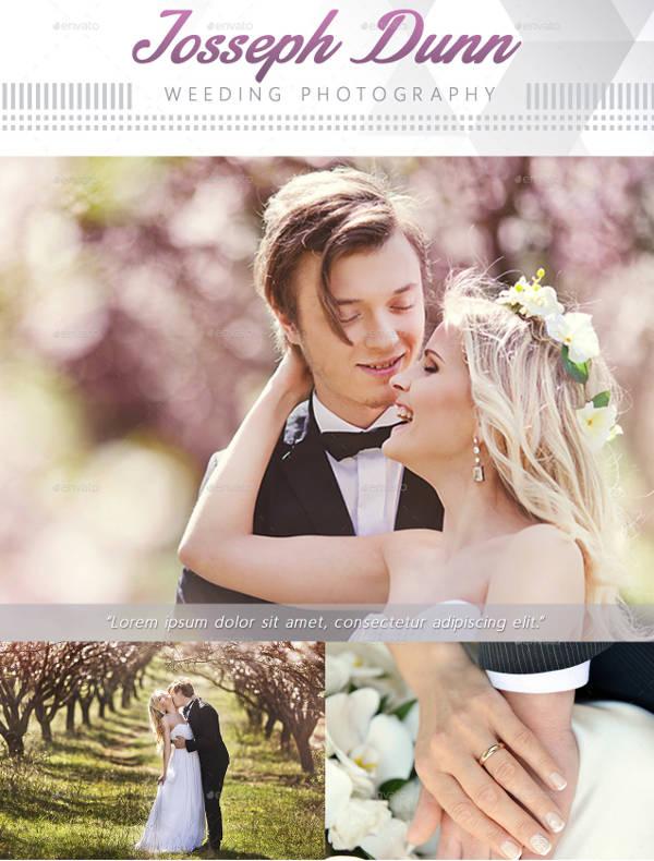 Creative Wedding Photography Rack Card