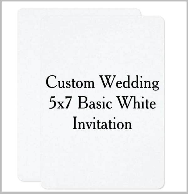 Custom Blank Wedding Gift Invitation Template