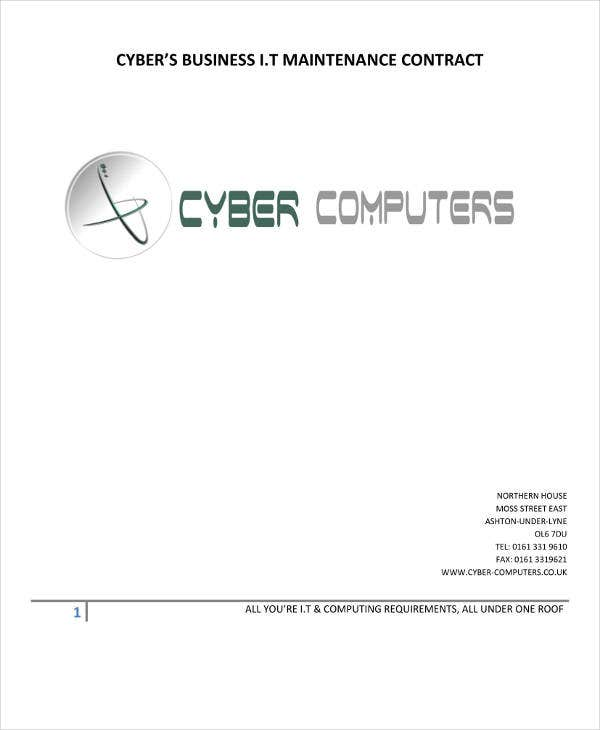 Cyber's Computer Maintenance Contract