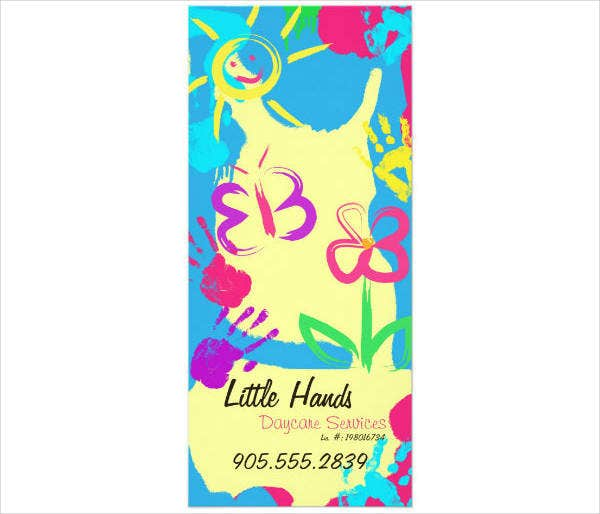 Daycare Promotional Rack Card Template