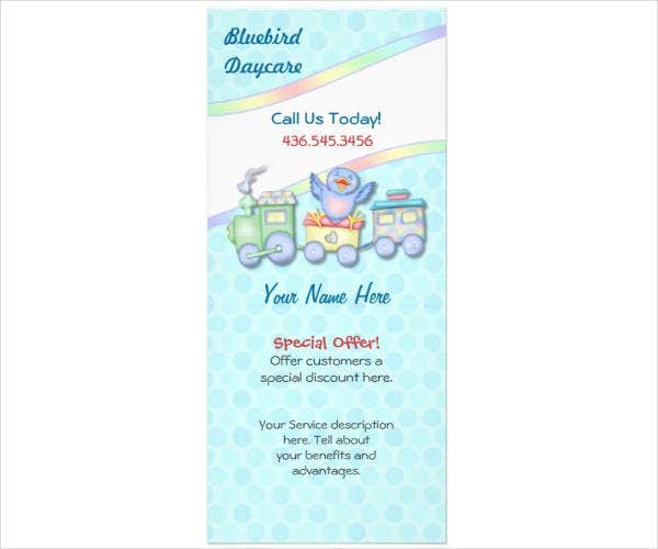 Daycare Rack Card Design