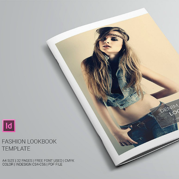 Denim Fashion InDesign Lookbook Template