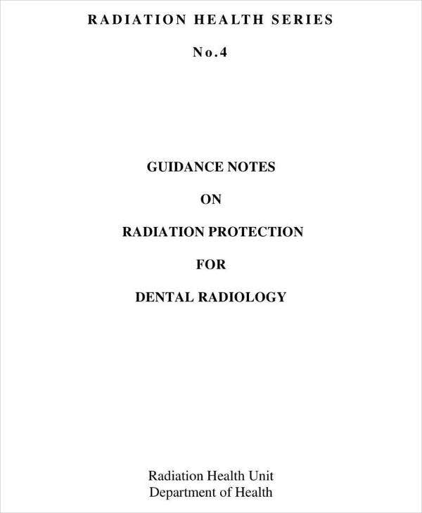 Dental Radiology Guidance Notes Template