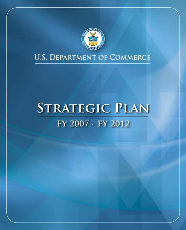 department of commerce strategic plan 01