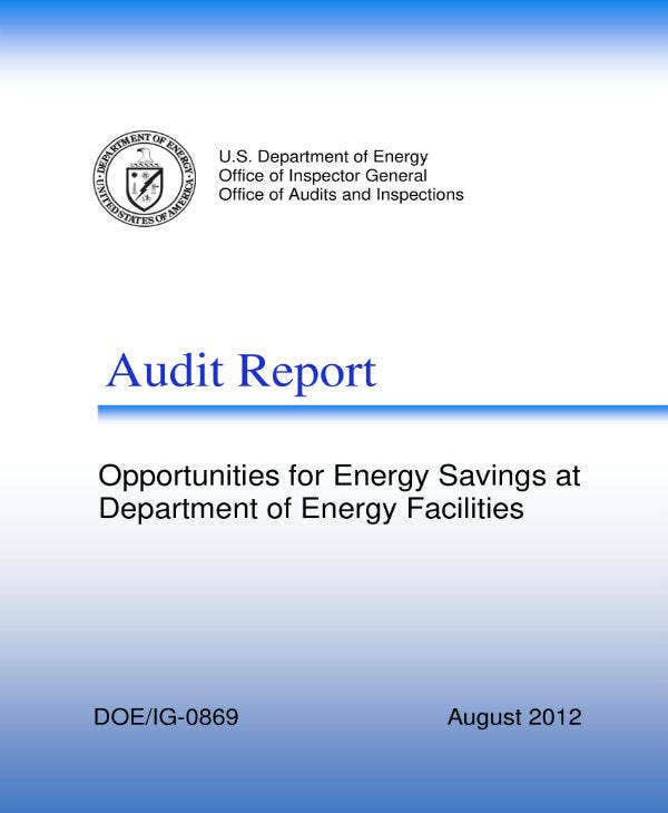 department of energy office audit report