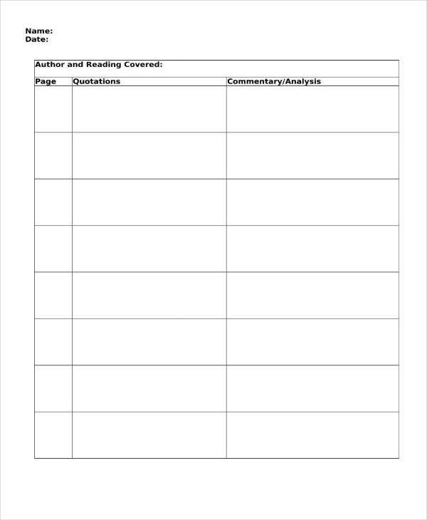Double Entry Journal with Page Number Template