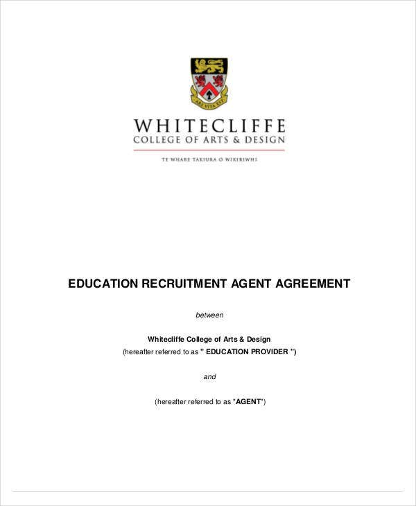education recruitment agent agreement