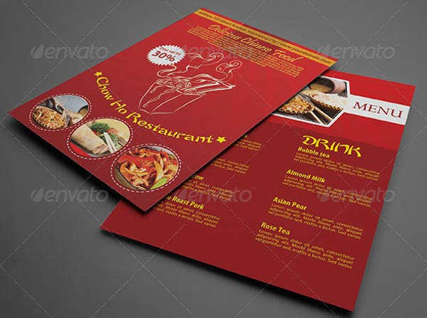 Elegant Chinese Menu Template