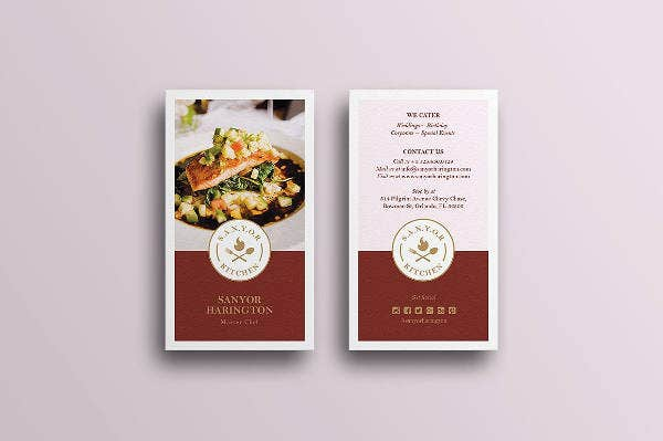 Elegant Food Business Card Design