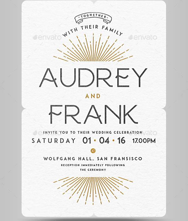 Elegant Letterpress Wedding Invitation Design