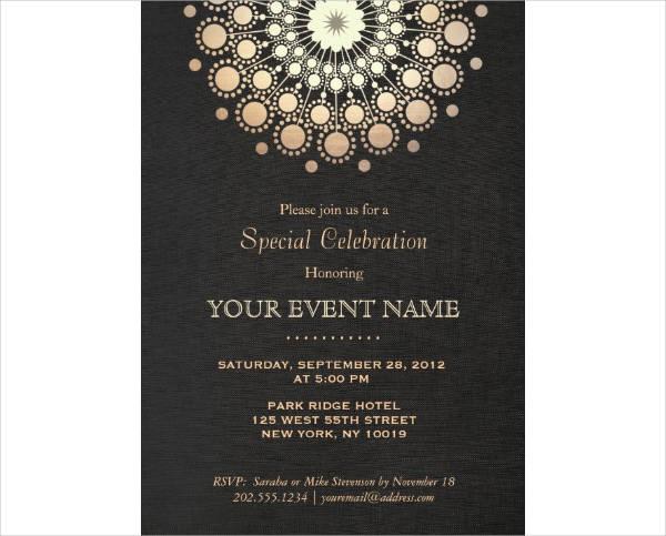 elegant mandala anniversary invitation