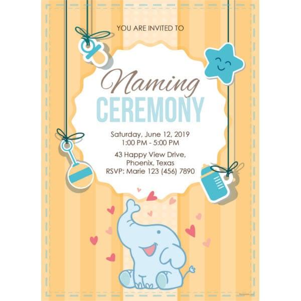 35 Naming Ceremony Invitations Psd Ai Free Premium Templates