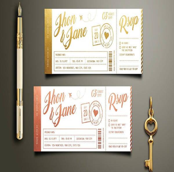 Elegant Save The Date Wedding Invitation Design