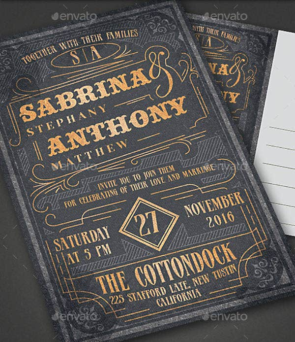 Elegant Wedding Invitation Card Example