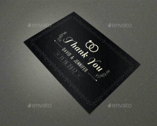 elegant wedding thank you card pack