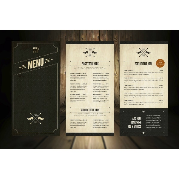elegant and fancy menu template